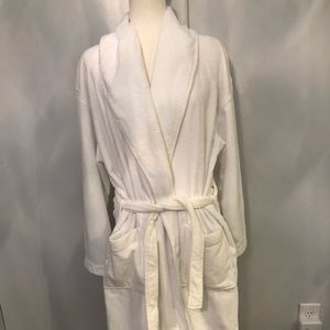 unisex bright white kimono long bathrobe. S/ M